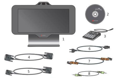 Комплект поставки Polycom HDX 4500